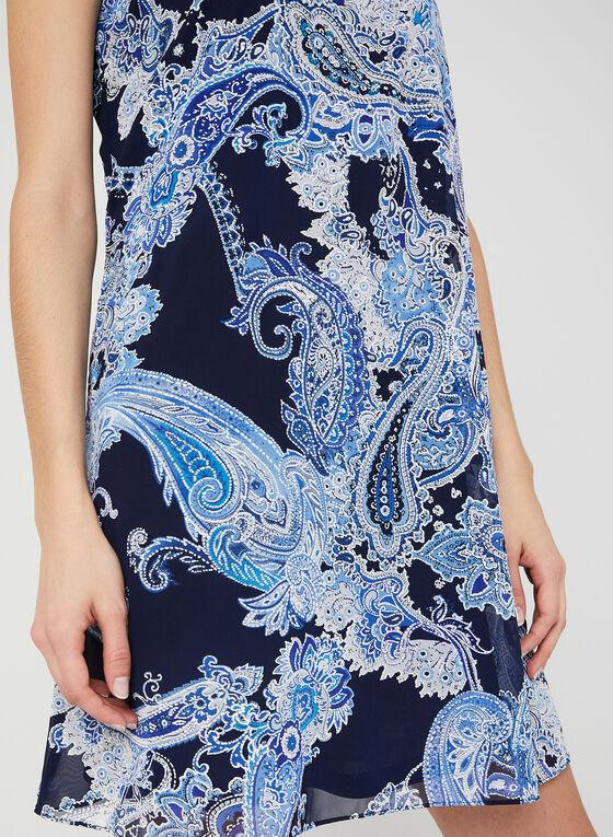 Jessica Howard - Paisley Print Chiffon Dress, Blue
