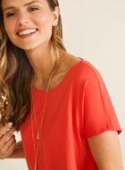 T-shirt en coton et modal, Rouge