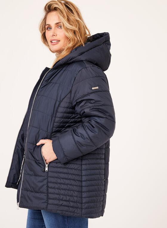 Novelti - Manteau matelassé avec fausse fourrure amovible, Bleu, hi-res