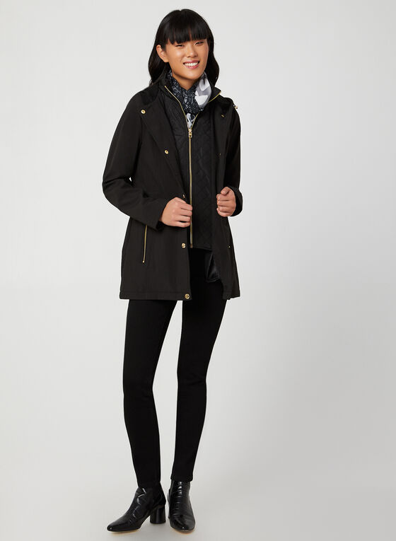 Anne Klein - Hooded Coat, Black