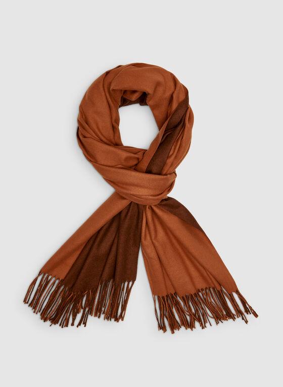 Foulard pashmina réversible, Orange, hi-res