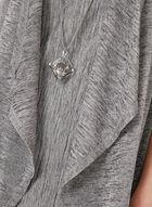 Robe effet chiné avec collier et cardigan assorti, Argent, hi-res