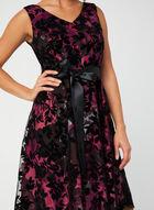 Velvet & Mesh Dress, Black
