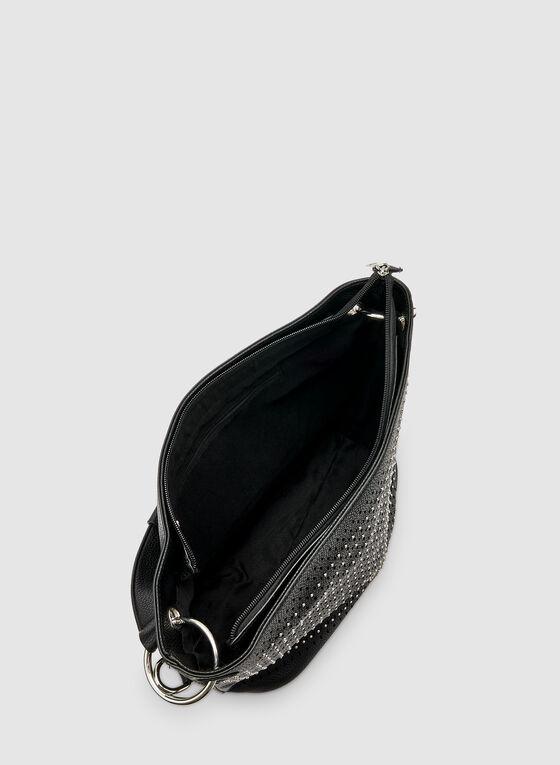 Stud Detail Bucket Bag, Black, hi-res