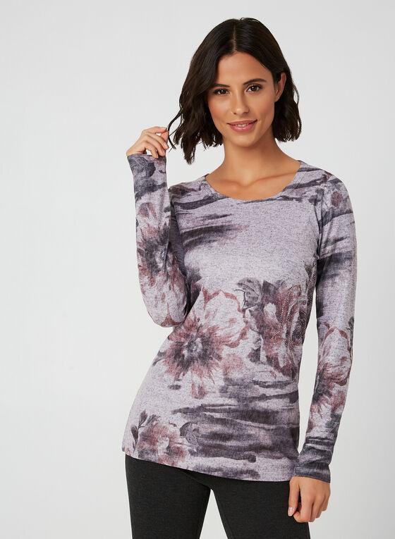Vex - Floral Print Top, Purple