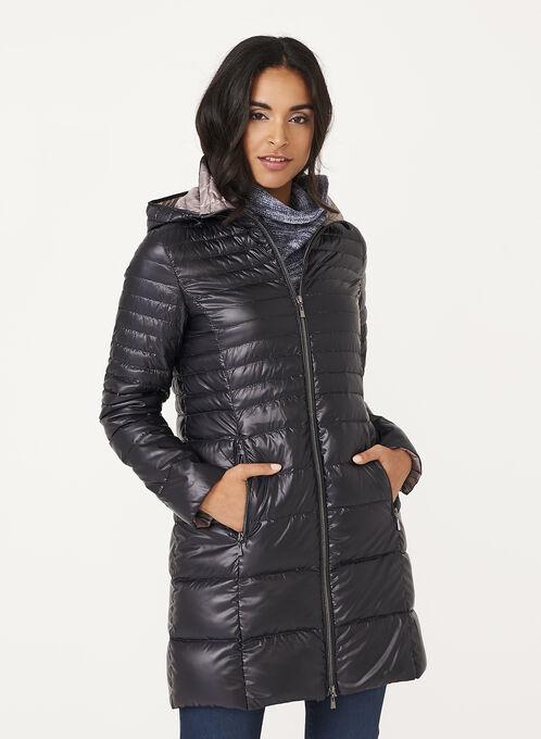 Nuage - Lightweight Packable Down Coat, Black, hi-res