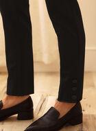 Slim Leg Pull-On Pants, Black