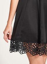 Fit & Flare Scuba Dress, Black, hi-res