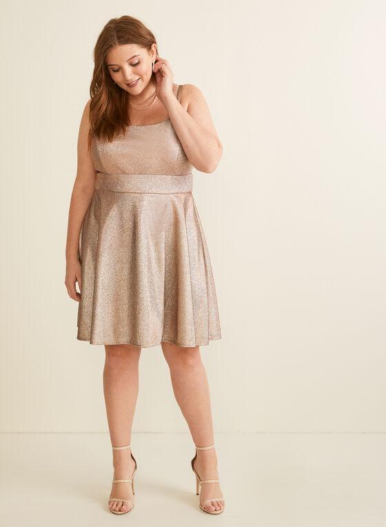 Sleeveless Metallic Dress, Gold