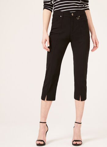 Simon Chang –Signature Fit Straight Leg Capri, Black, hi-res