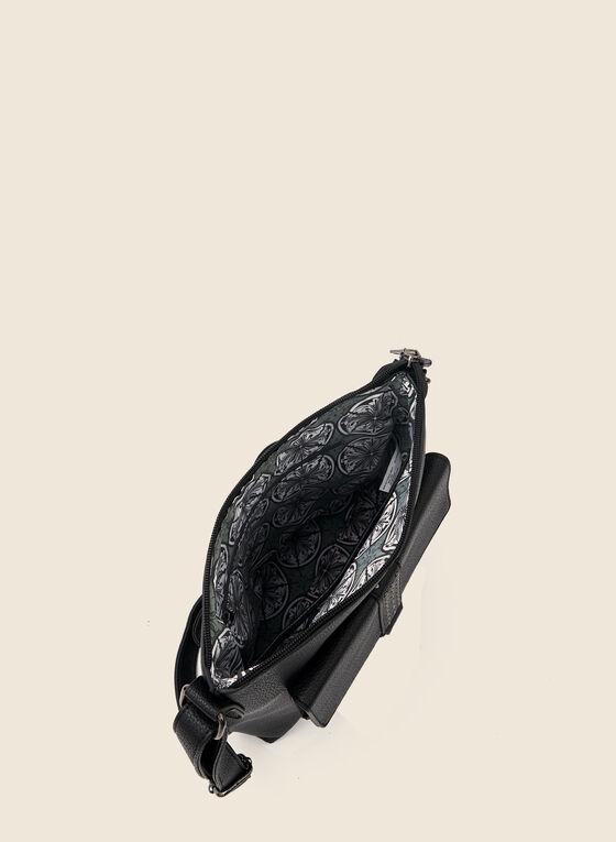 Sac à bandoulière et détails rivets, Noir