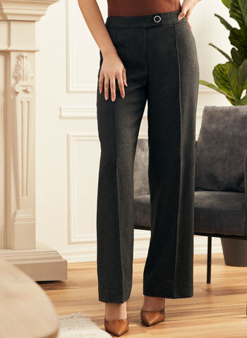 Wide Leg Pull-On Pants, Grey,  pants, wide leg, pull-on, drawstring, fall winter 2020