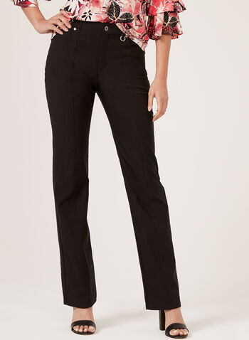 Simon Chang - Straight Leg Pants, Black, hi-res