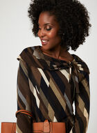 Fold Over Boat Neck Sweater, Brown, hi-res
