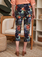 Floral Print Capri Pants, Blue