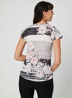 Floral Print T-Shirt, Grey, hi-res