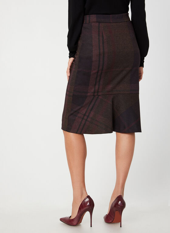 Macro Plaid Skirt, Purple