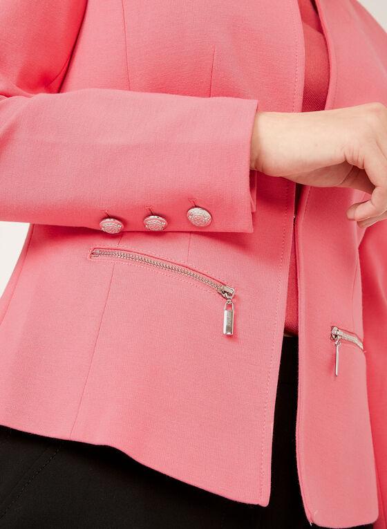 Blazer en tricot avec boutons métalliques, Orange, hi-res