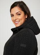 BCBGeneration – Hooded Transition Coat, Black, hi-res