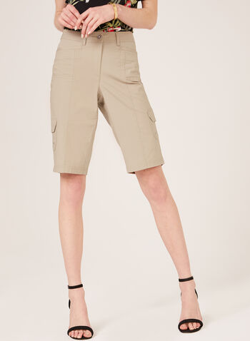 Multi-Pocket Cargo Shorts, Brown, hi-res