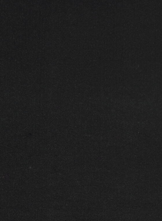 Reversible Fringe Detail Scarf, Black