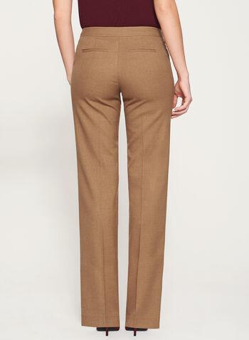 Modern Fit Wide Leg Pants, Brown, hi-res