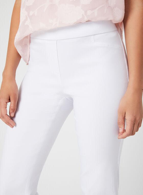 City Fit Slim Leg Pants, White, hi-res
