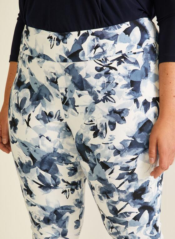 Joseph Ribkoff  - Capri pull-on motif floral, Blanc