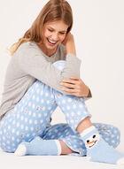 Pillow Talk - Snowman Pajama Set with Socks , Grey, hi-res