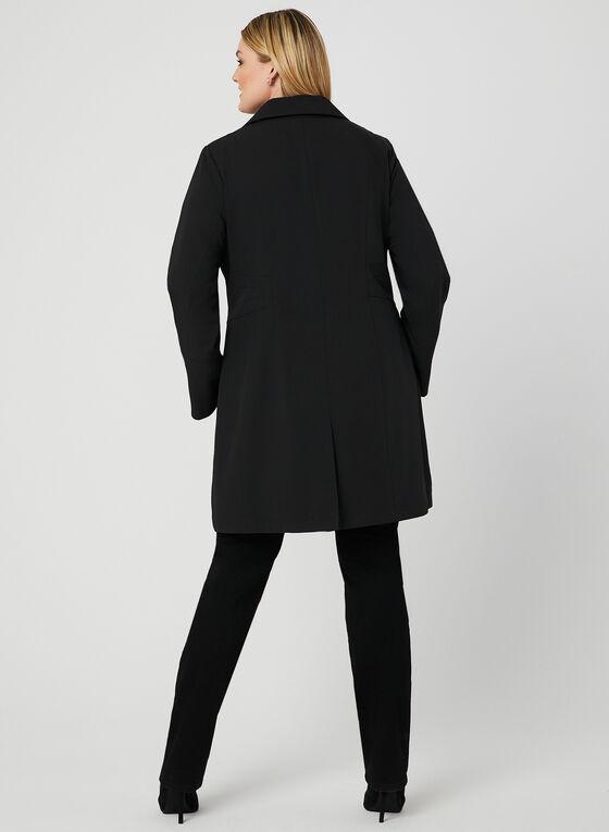 Manteau imperméable à boutons, Noir, hi-res