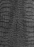 Foulard métallique à motif reptilien et franges, Noir, hi-res