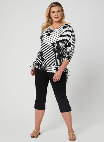Picadilly - Capri Pants, Black, hi-res,  Picadilly, capri pants, pull-on, cotton, spring 2019