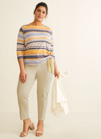 Signature Fit Straight Leg Pants, Off White,  spring 2019, summer 2019, Signature fit, straight leg, stretchy fabric, ankle length