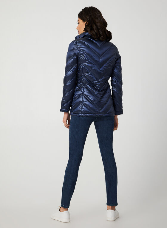 Packable Down Coat, Blue