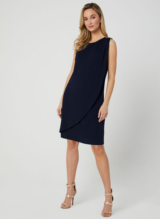 Sleeveless Jersey Dress, Blue, hi-res