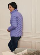 Manteau matelassé en duvet végane, Bleu