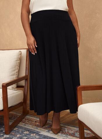 Pull-On Maxi Skirt, Black,  skirt, pull-on, maxi, pockets, fall winter 2020