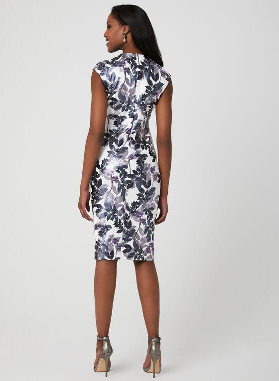 Floral Print Midi Dress, Purple