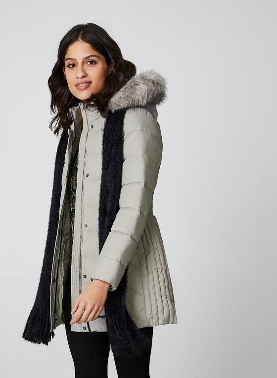 Anne Klein - Faux Fur Down Coat, Off White