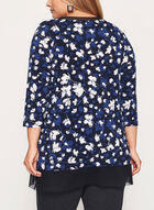¾ Sleeve Jersey Tunic Top , Blue, hi-res