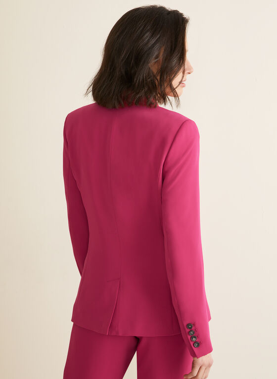 Single-Button Shawl Collar Jacket, Pink