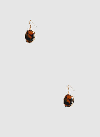 Dangle Earrings, Brown, hi-res,  metallic, earrings, dangle, lucite, drop earrings, fall 2019, winter 2019