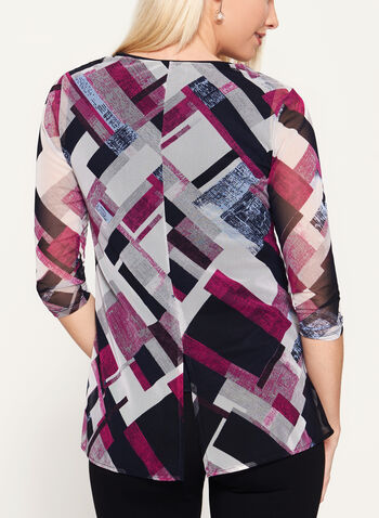 Abstract Print Mesh Top, , hi-res