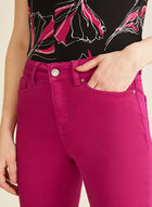 Fringe Bottom Capri Pants, Pink