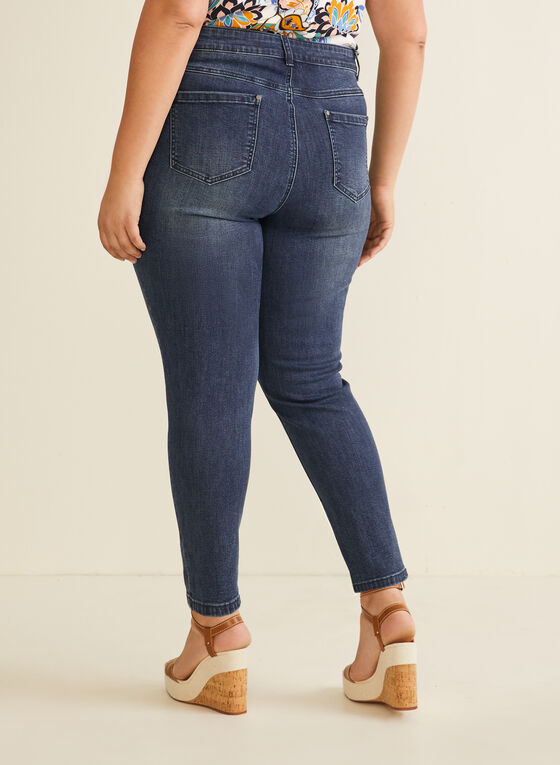 Slim Leg Ankle Jeans, Blue