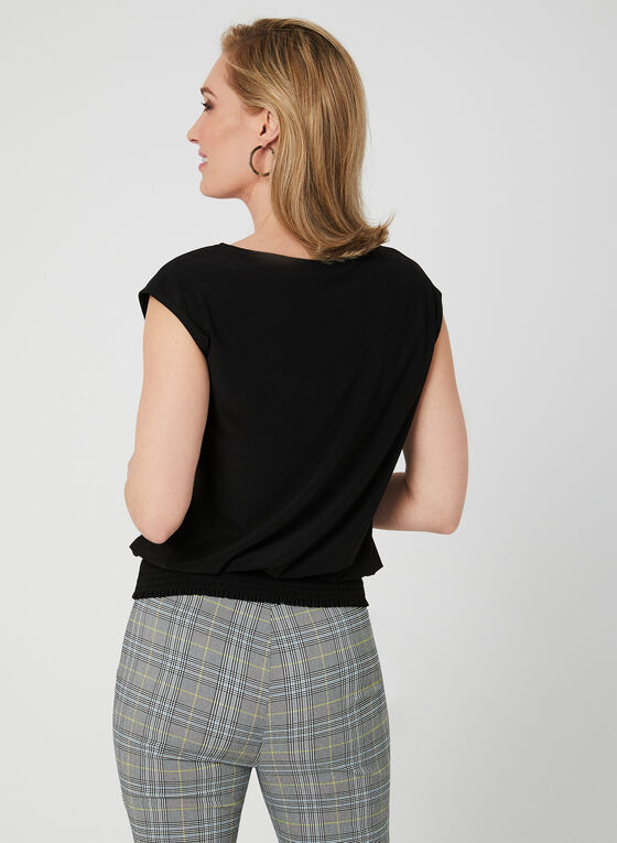 Drop Shoulder Jersey Top, Black, hi-res