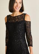 Marina - Robe en dentelle à épaules ajourées, Noir