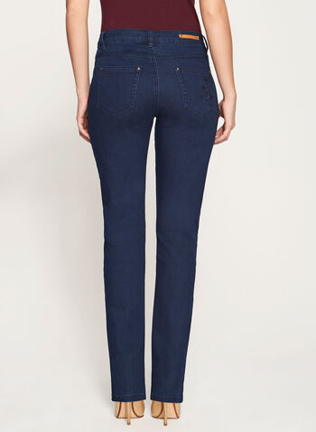 Simon Chang - Signature Fit Floral Embroidered Jeans, , hi-res