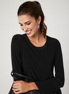 Picadilly – Asymmetric Long Sleeve Top, Black, hi-res