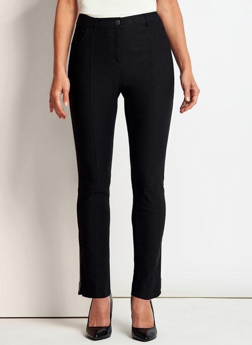 Pantalon 7/8 coupe moderne à jambe étroite, Noir, hi-res